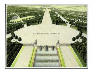 Fig. 1 : « Partie haute de la Rivière ». État postérieur à 1707. Archives nationales O1 1472 n°9