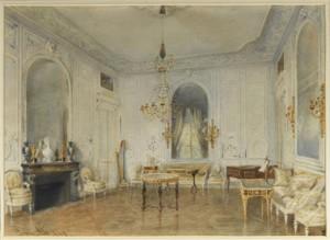 Vue du salon de compagnie à Trianon après le remeublement voulu par l'impératrice Eugénie. © Château de Versailles