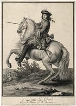 Nicolas Bazin, Portrait équestre de Louis XIV, 1682, INV.GRAV 10 © Château de Versailles.